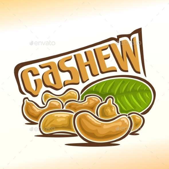 Vector Logo for Cashew - Food Objects