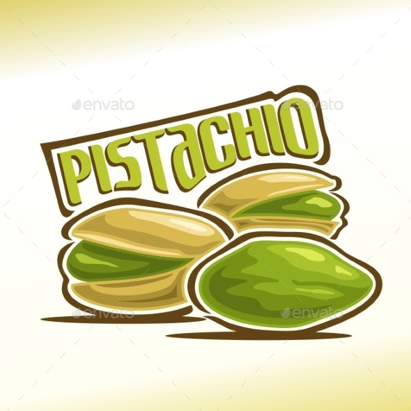 Vector Logo for Pistachio - Food Objects