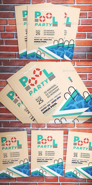 Pool Party Flyer - Flyers Print Templates