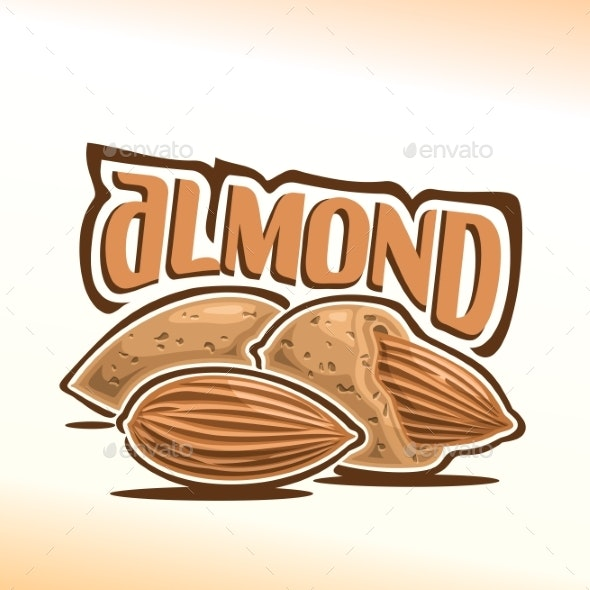 Vector Logo for Almond - Food Objects