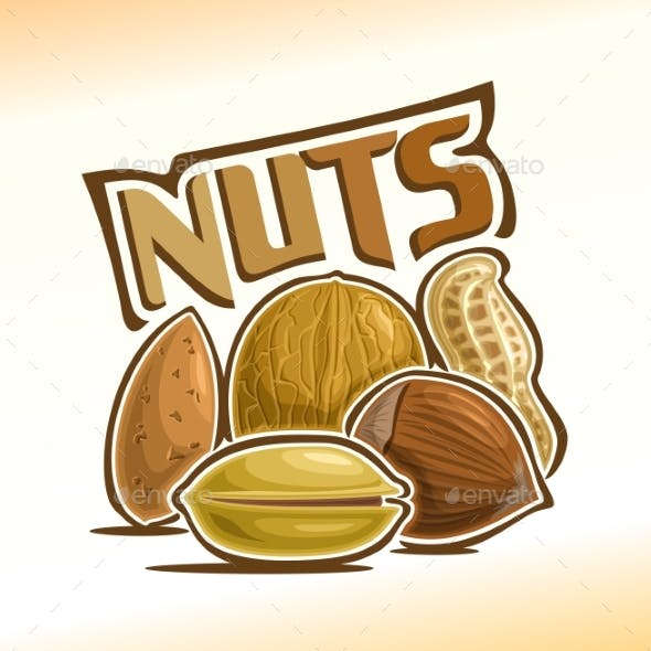 Vector Poster for Nuts