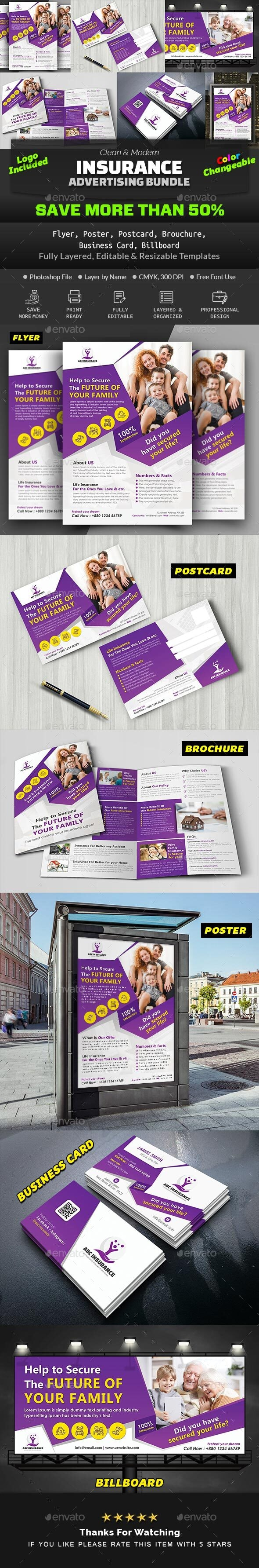 Insurance Advertising Bundle - Print Templates