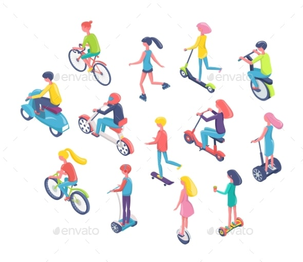 Eco Transport - People Characters