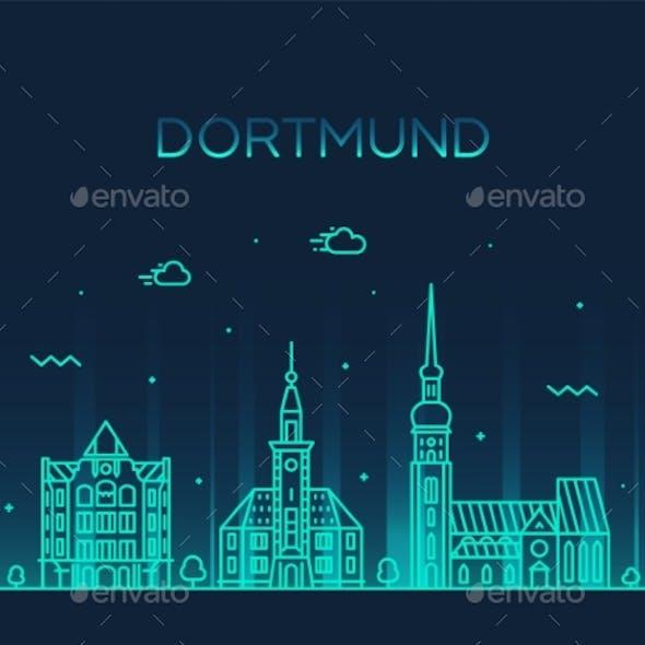 Dortmund Skyline Rhine Westphalia Germany