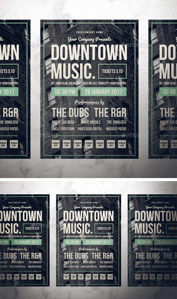 Retro Music Flyer - Concerts Events