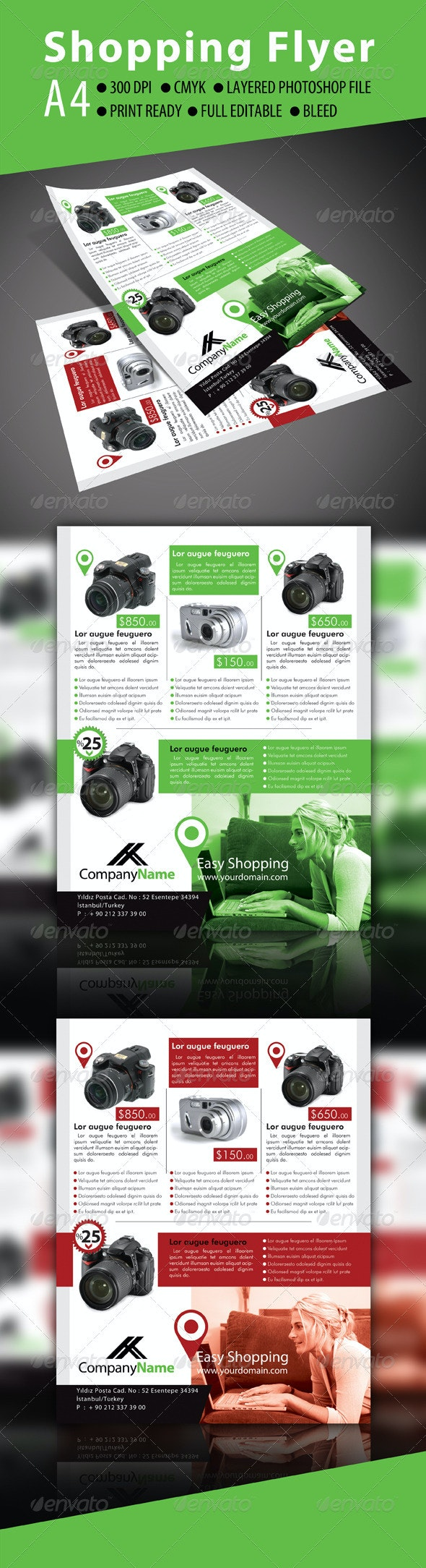 Shopping Flayer - Flyers Print Templates