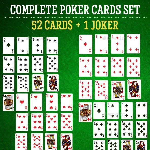 Complete Poker Cards Set - 53 Cards