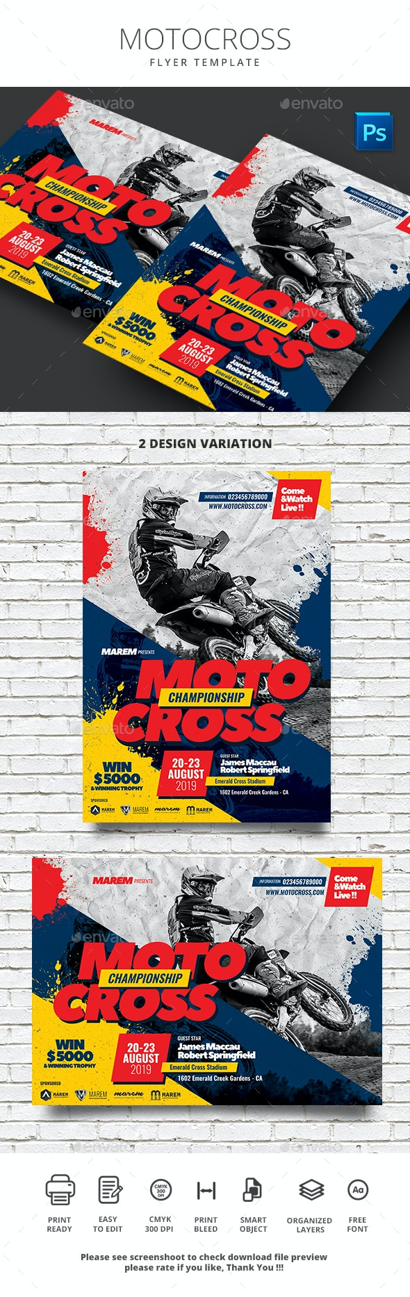 Motocross Flyer - Flyers Print Templates