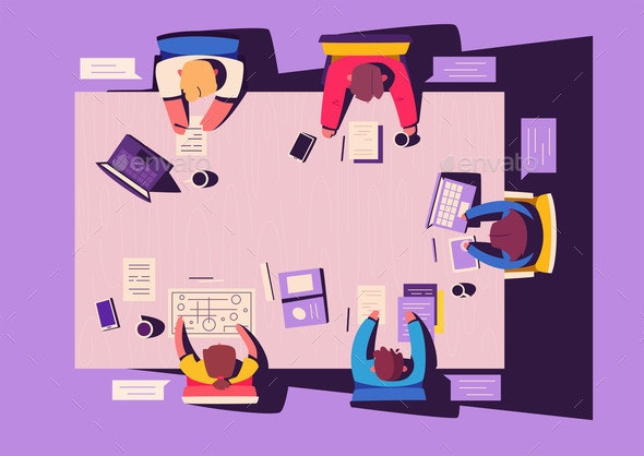 Teamwork at the Smartphone Desk - Concepts Business
