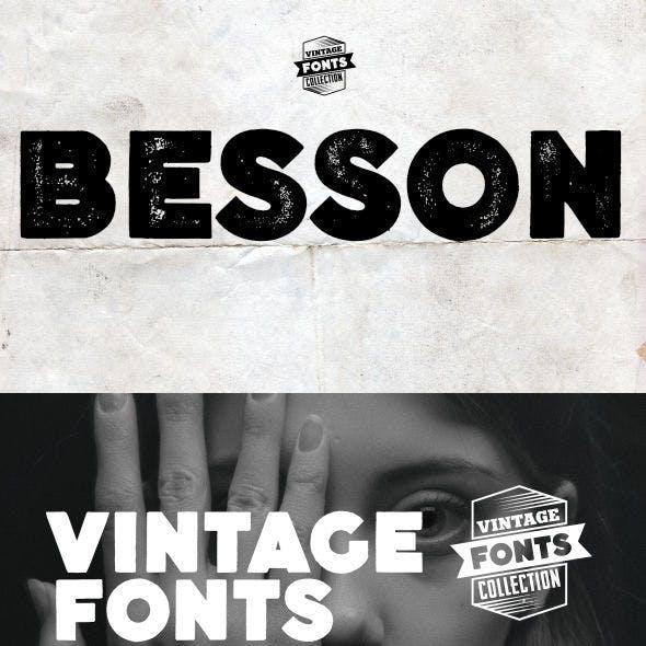Besson - 2 vintage fonts