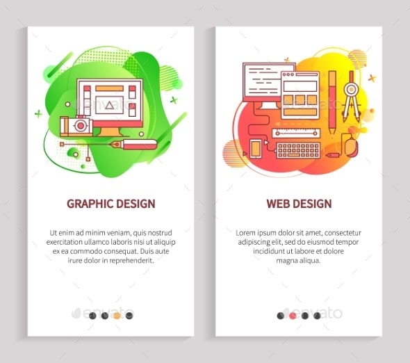 Computer Equipment Graphic and Web Design Vector - Industries Business