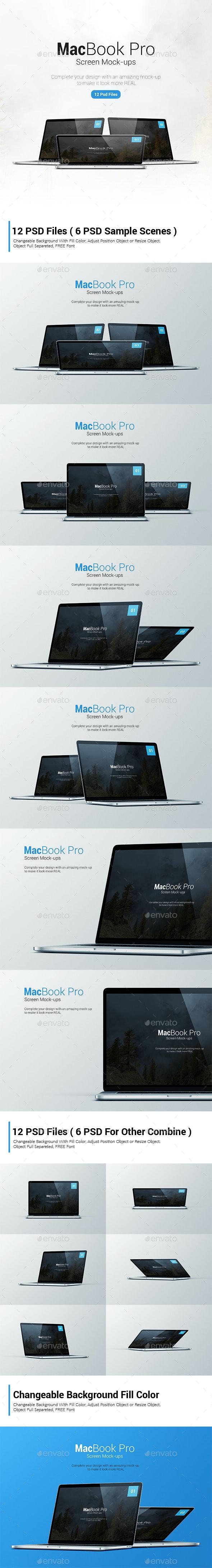 Macbook Mockup - Laptop Displays