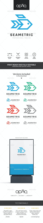 Geometric Fish Logo - Animals Logo Templates