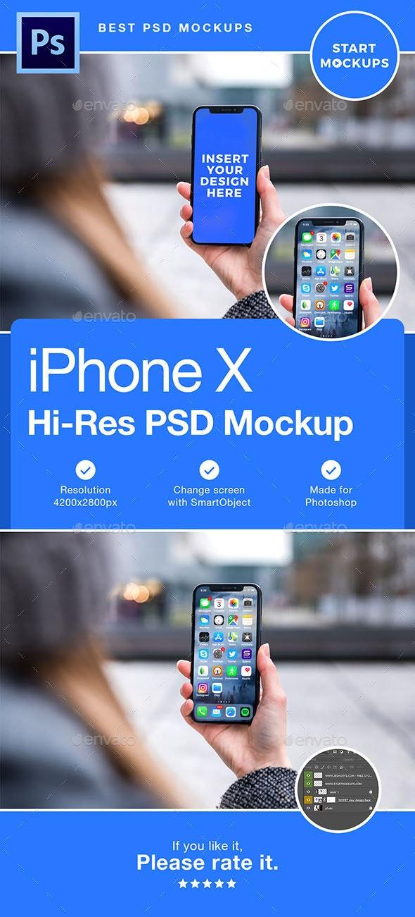 Phone X PSD Mockup Template - Mobile Displays