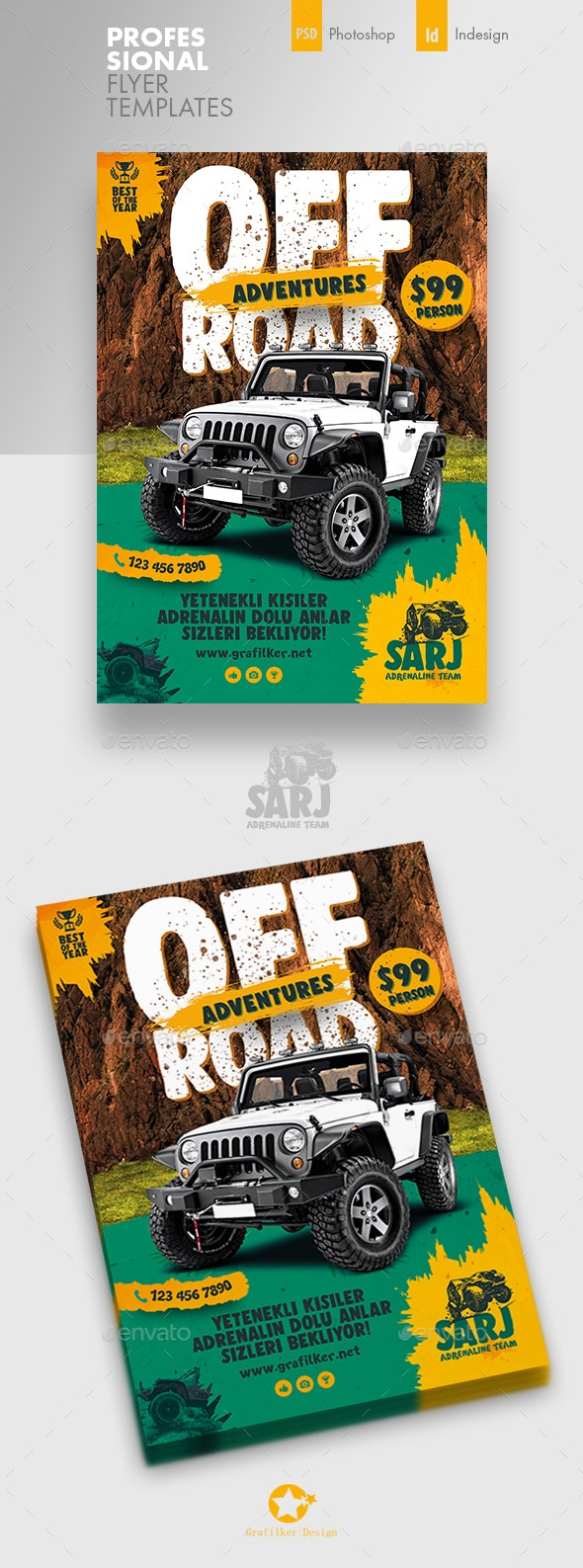 Off-Road Adventure Flyer Templates - Corporate Flyers