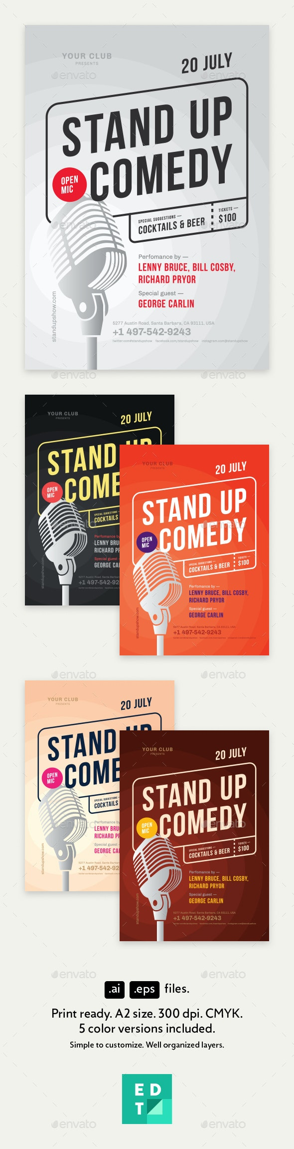 Standup Poster Template - Concerts Events