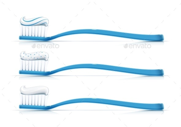 Toothbrush with Toothpaste Dental Broom - Man-made Objects Objects