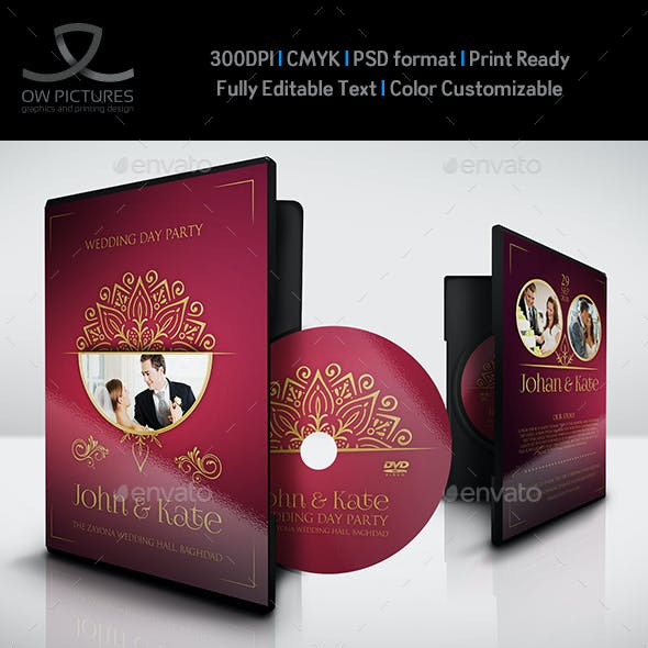 Wedding DVD Cover and Label Template Vol.13
