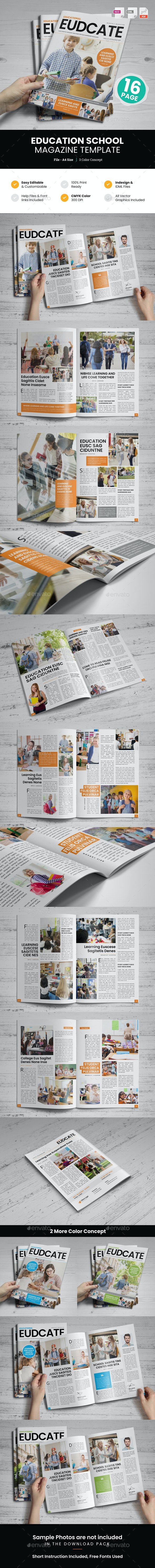 Education Magazine Template - Magazines Print Templates