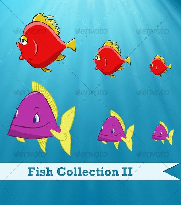 Vector Fish Series II - Animals Characters