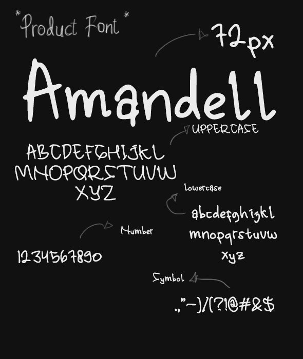 Amandell - Hand-writing Script
