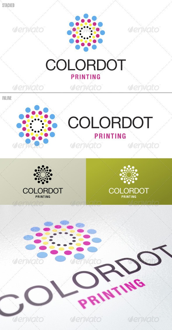 ColorDot Printing – Logo Template - Vector Abstract