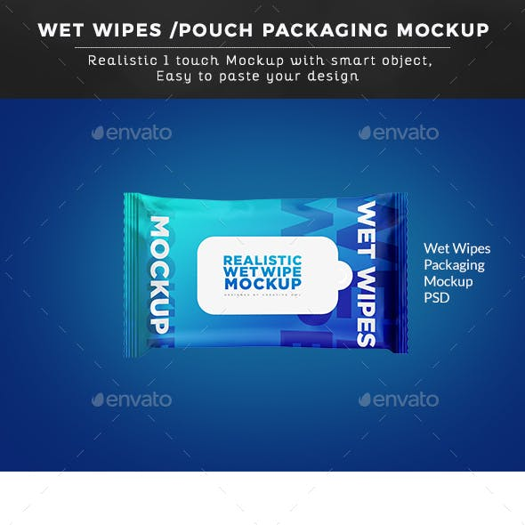 Wet Wipes/ Pouch Packaging Mockup