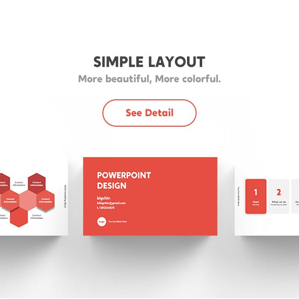 Creative Business Simple Layout PowerPoint Template