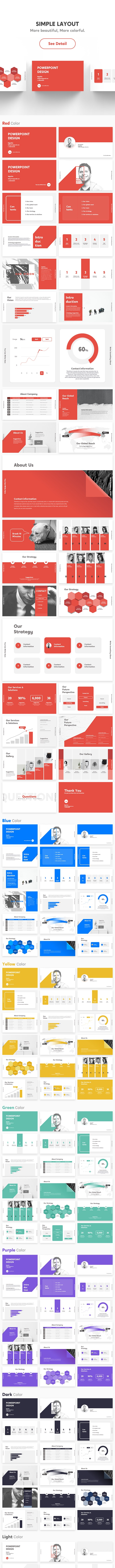 Creative Business Simple Layout PowerPoint Template - PowerPoint Templates Presentation Templates