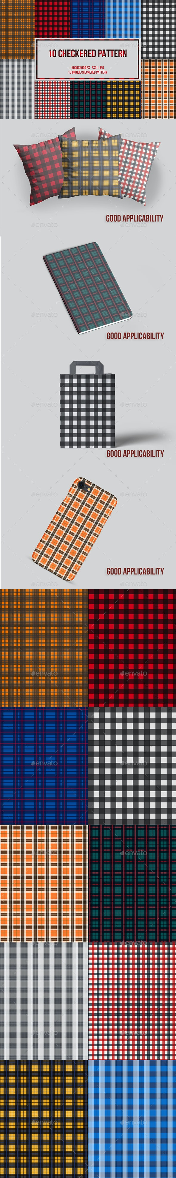 10 Checkered Patterns - Patterns Backgrounds