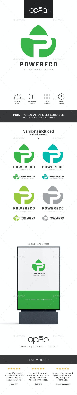 Ecologic P Letter Logo - Letters Logo Templates