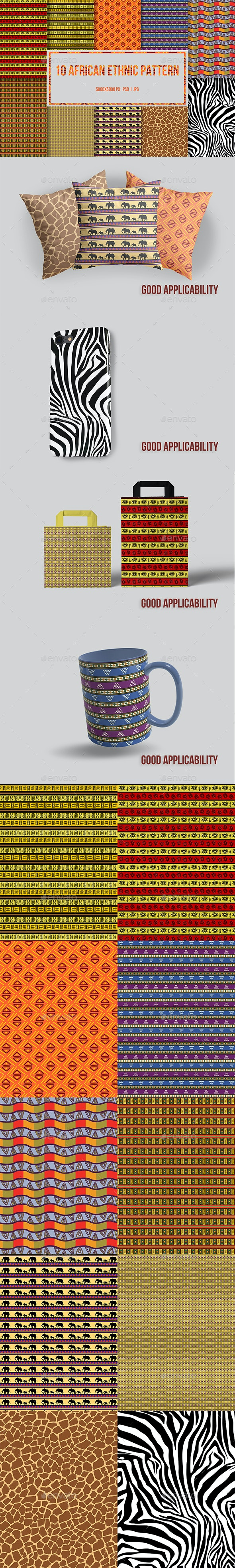 10 African Ethnic Pattern - Patterns Backgrounds