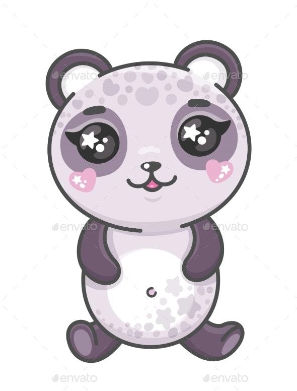 Panda Cartoon Vector - Animals Characters