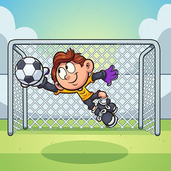 Goalie Boy - Sports/Activity Conceptual