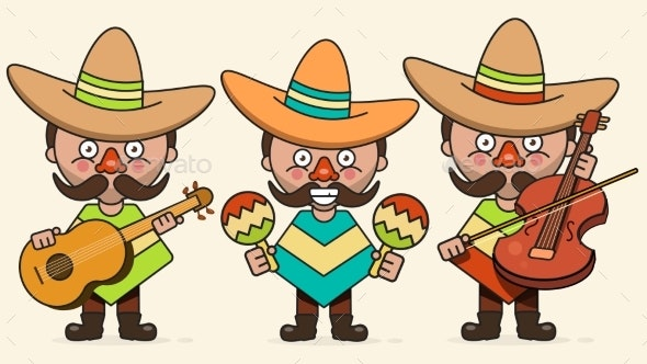 Mexican Musicians Vector Illustration - Miscellaneous Vectors