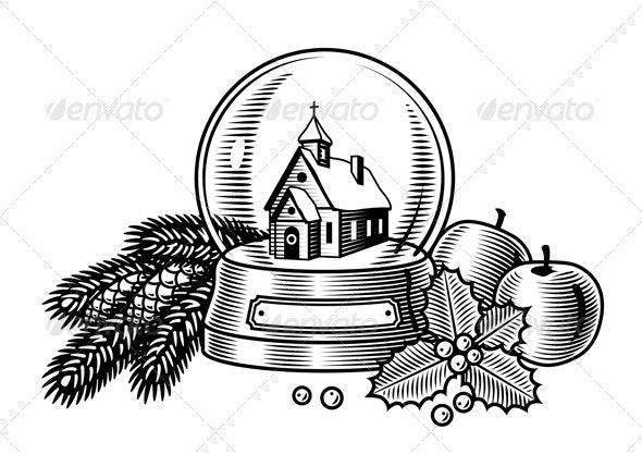Christmas Still Life Black And White - Christmas Seasons/Holidays