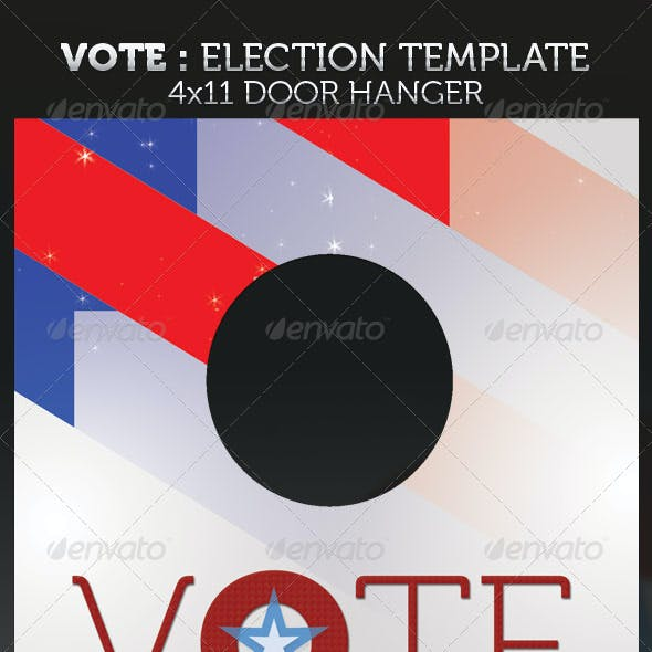 Vote - Election Door Hanger Template