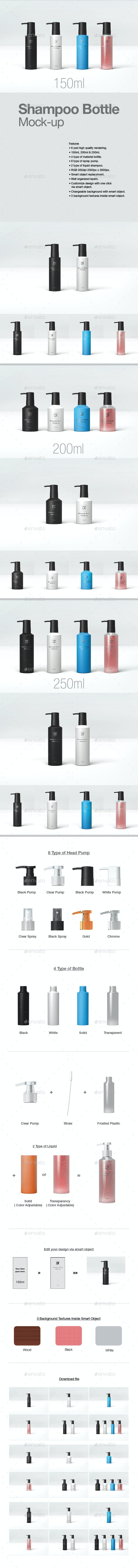 Shampoo Bottle Mock-up - Beauty Packaging