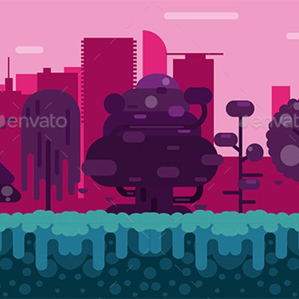 City Forest Background