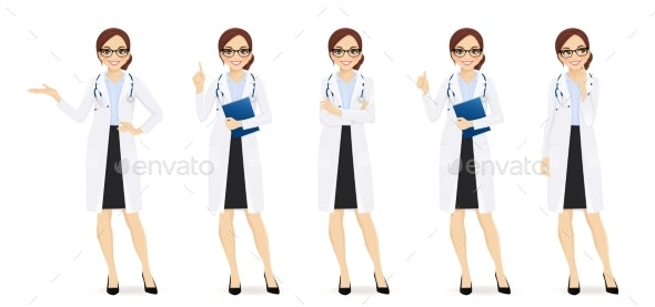 Female Doctor Set - Health/Medicine Conceptual