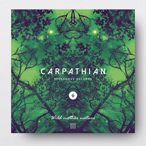 Carpathian - Psychedelic Trance Album Cover Template