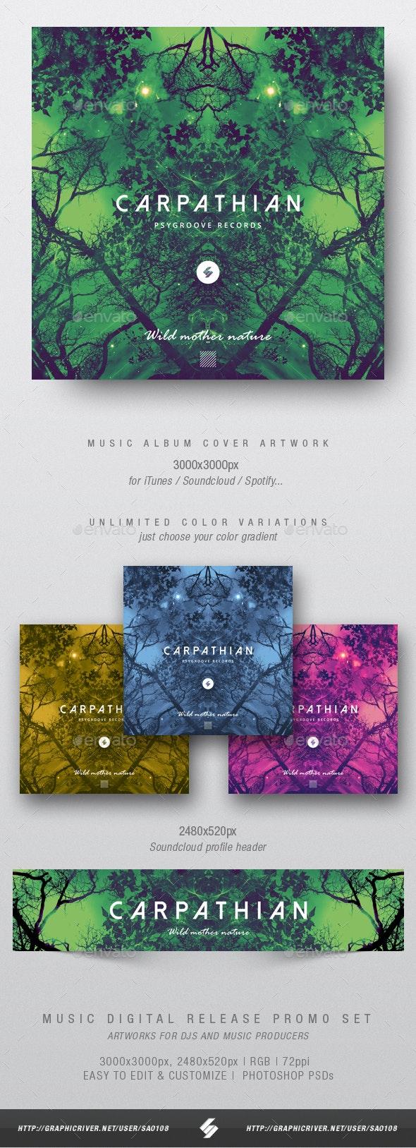 Carpathian - Psychedelic Trance Album Cover Template - Miscellaneous Social Media