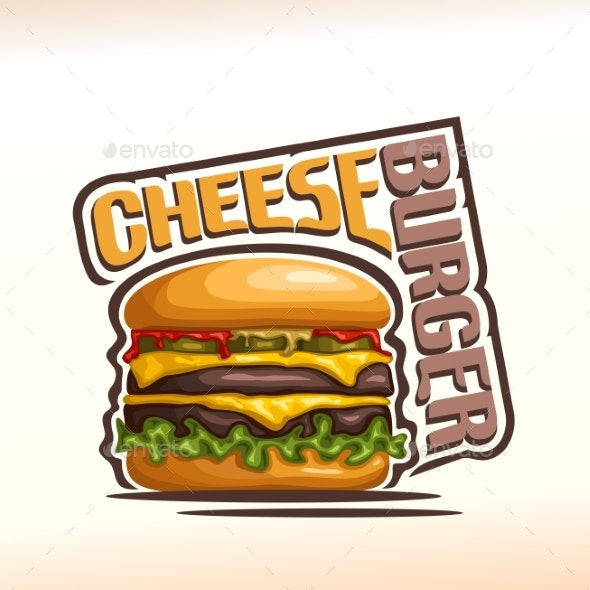 Vector Cheeseburger - Food Objects