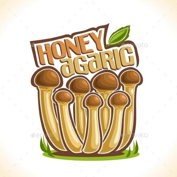 Vector Honey Agarics - Food Objects