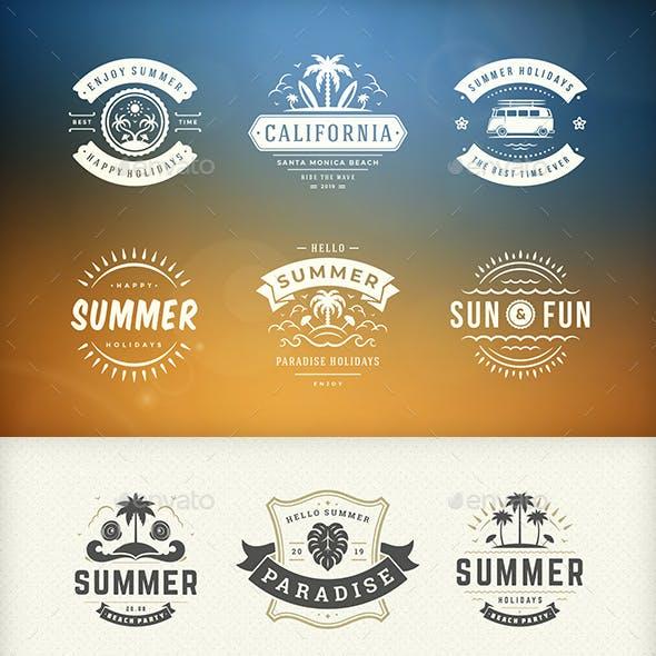 Summer Holidays Badges & Labels