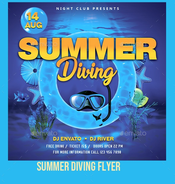 Summer Diving Flyer - Events Flyers