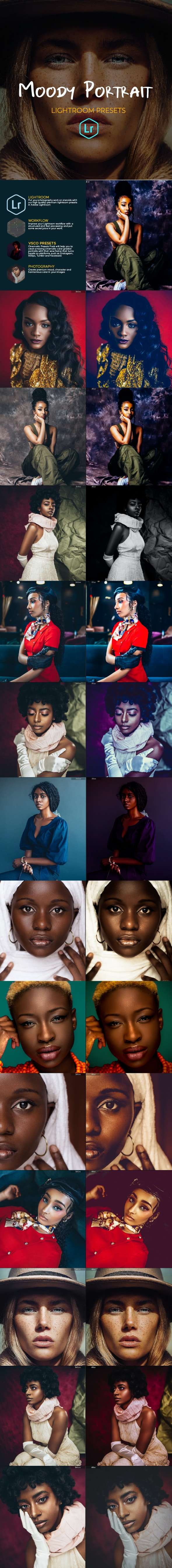 21 Moody Portrait Lightroom Presets - Portrait Lightroom Presets