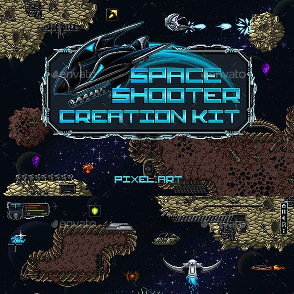 Pixel Art Space Shooter Game Kit