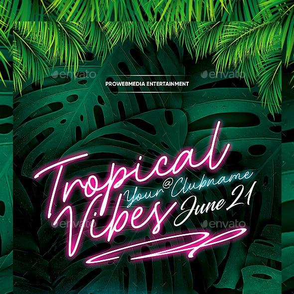 Neon Tropical Flyer