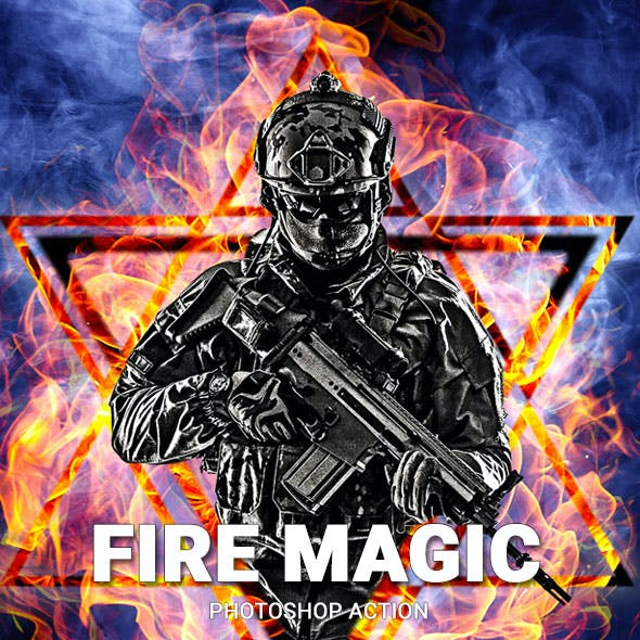Fire Magic Photoshop Action